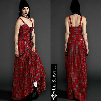 LIP SERVICE spike goth fetish biker gothic punk rockabilly bustier long dress