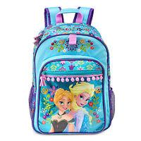 Frozen Princess Elsa Anna Sisters Blue Backpack Book Bag Pink Balls Disney Store