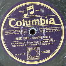 """78rpm 12"""" PICCADILLY THEATRE ORCH - KENNEDY RUSSELL blue eyes selection 1&2"""