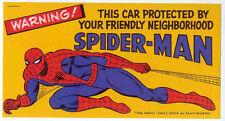 SPIDER-MAN REPRO 1966 CAR BUMPER STICKER . MARVEL COMICS NOT DVD