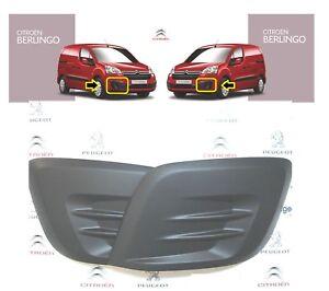 Pour Citroen Berlingo Peugeot Partner 15-18 pare-chocs avant Foglight Grille Paire Set