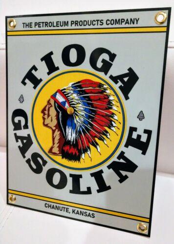 Tioga Gas Oil Gasoline garage Sign