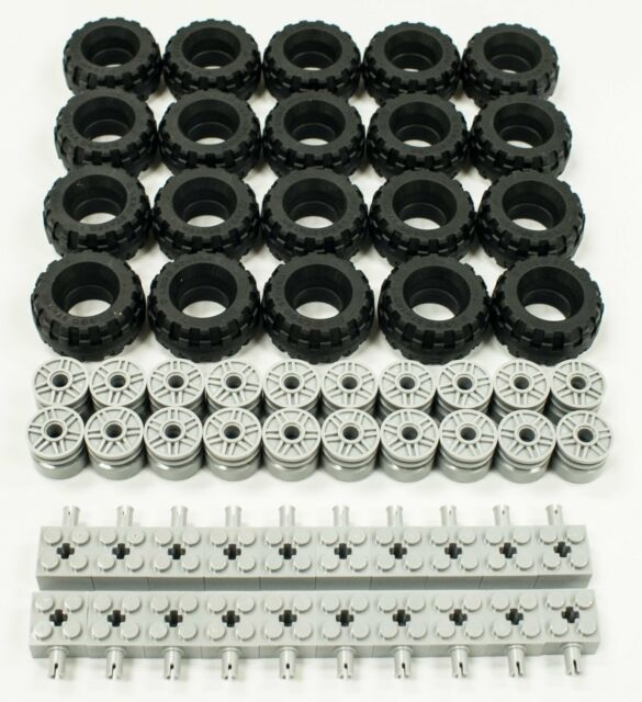 Tires Rims 100 Pieces total Wheels NEW ☀️NEW LEGO Bulk Lot of Grey Axles