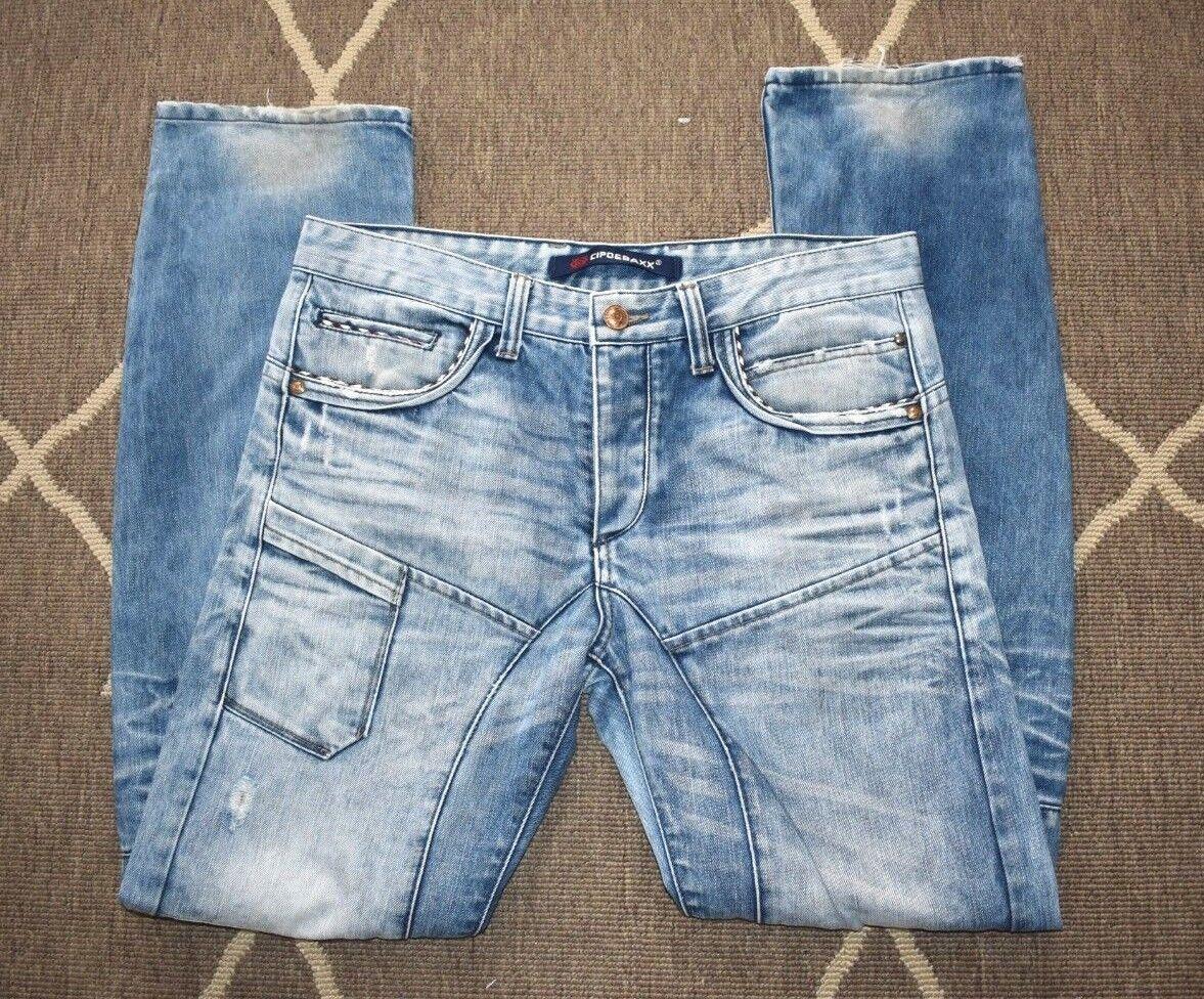 CIPO & BAXX Mens Denim Jeans CBJ-62 W34 L34 FREE Shipping Australia