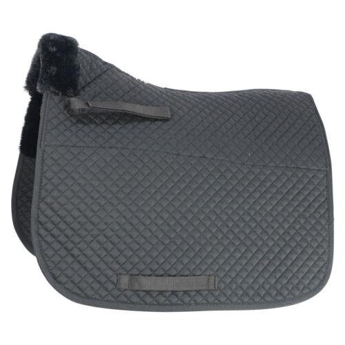 Hy SPEED FAB FLEECE Lined Saddle Cloth Pad Fast Drying OneSize Black Brown White