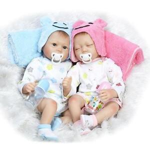 Boy Girl Twins Handmade Baby Doll Silicone Vinyl Reborn Newborn Dolls Clothes Ebay