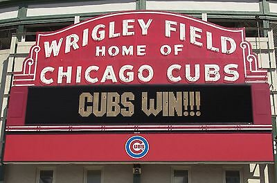 Chicago Cubs Win Wrigley Field POSTER 24 X 36 INCH world Series champions