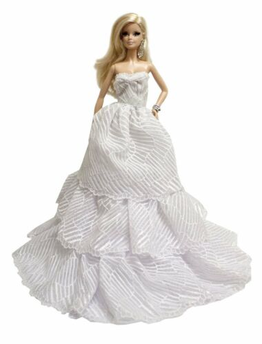 2 Gown Set for 11.5 inches Doll White /& Red Strapless Layered Wedding Gown