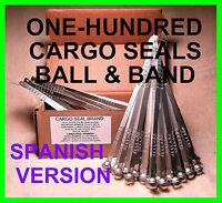 Sello De Seguridad, Metal Ball & Band, Cargo Security Seals, Spanish Version