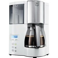 Melitta Optima Timer Weiss-edelstahl Filter-kaffeemaschine 850 W Timer Glaskann
