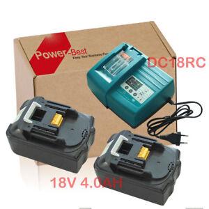 2X-18V-4Ah-Makita-Akku-BL1840-BL1830-LXT-Li-Ion-DC18RA-DC18RC-charger-UK-Plug