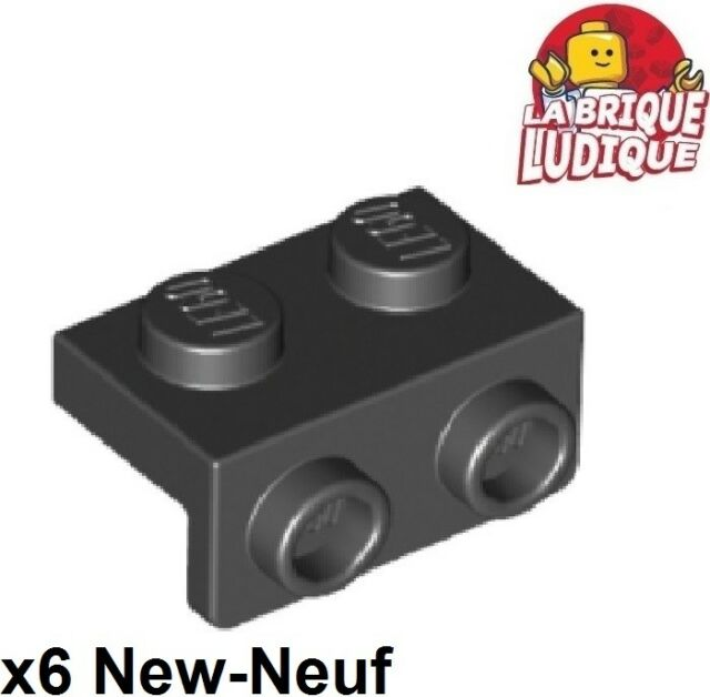 6x Bracket 1x2-1x2 support holder 90° black//black 99781 NEW Lego
