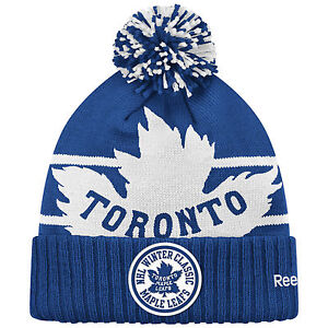 TORONTO MAPLE LEAFS 2014 NHL WINTER CLASSIC REEBOK CUFFED POM KNIT HAT TOQUE
