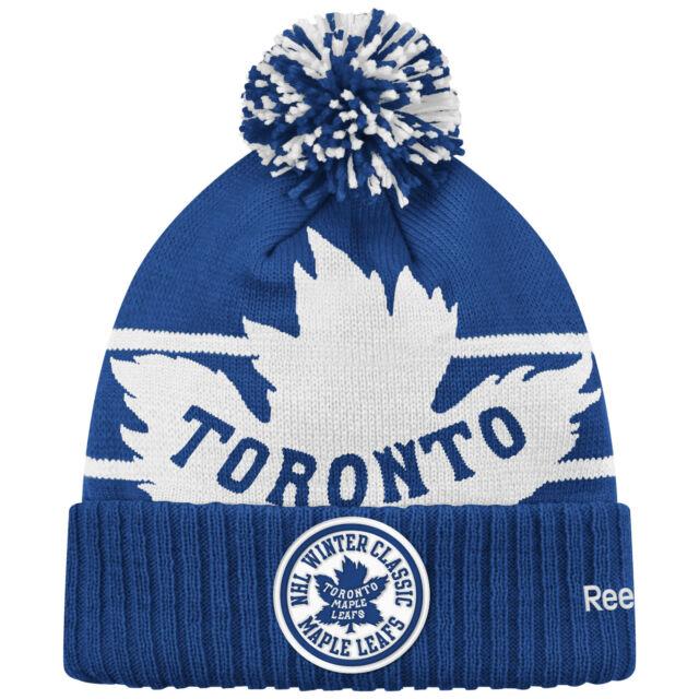 jó vásárolni stabil minőség fogás CCM Toronto Maple Leafs Blue 2017 Centennial Classic Cuffed Knit ...