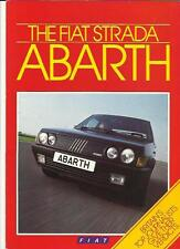 FIAT STRADA ABARTH SALES BROCHURE & MOTORING PRESS REVIEWS  1985 1986