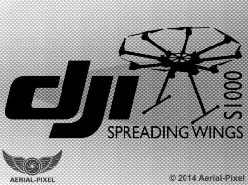 DJI Spreading Wings S1000 Window Case Decal Multirotor UAV Sticker Phantom