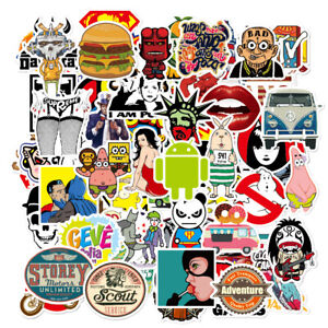 100-Random-Skateboard-Stickers-bomb-Vinyl-Laptop-Luggage-Decals-Dope-Sticker-Lot