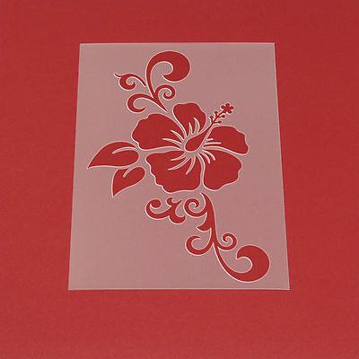 Schablone Wandschablone Blume Hibiskus Ranke - MF52