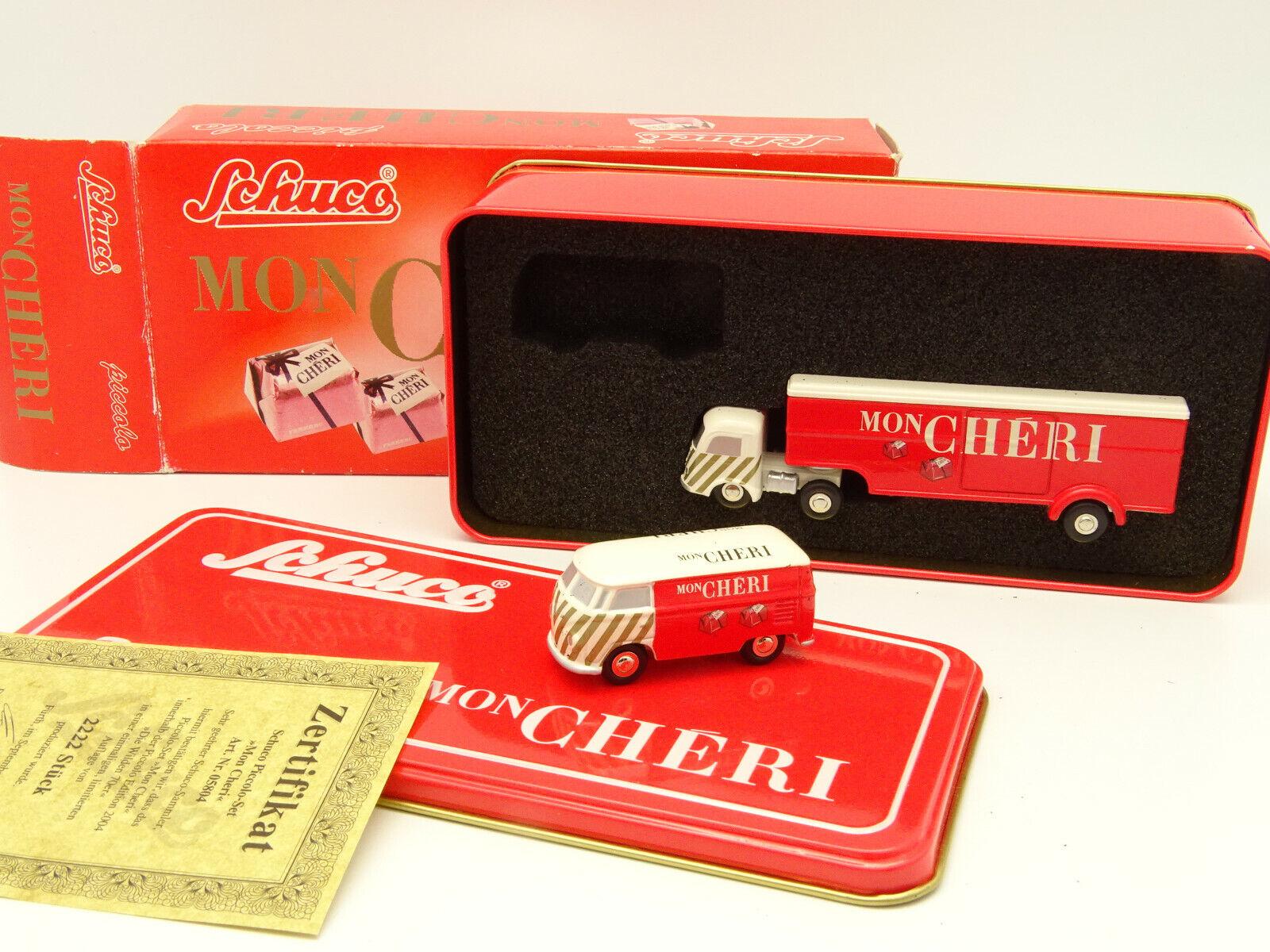 Schuco 1 90 Small-Box my Cheri-VW Station Wagon + Mercedes Truck