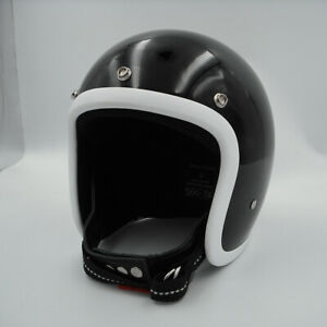 New-Open-face-motorcycle-helmet-fiberglass-retro-vintage-cool-custom