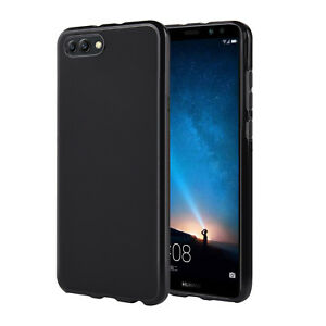 best website 97369 0a4ea Details about Huawei Honor View 10 [V10] Case, Slim Fit TPU Protective Skin  Back Cover, Black