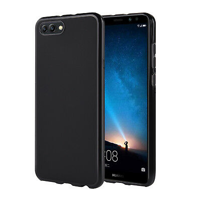 innovative design 210ed 3756c Huawei Honor View 10 [V10] Case, Slim Fit TPU Protective Skin Back Cover,  Black 848845094606 | eBay