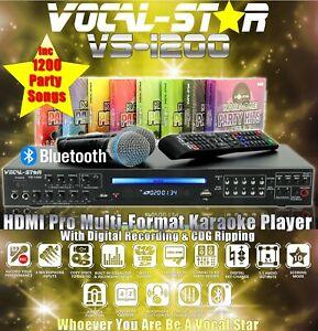 VOCAL-STAR-VS-1200-CDG-DVD-BLUETOOTH-KARAOKE-MACHINE-PLAYER-2-MICS-1500-SONGS