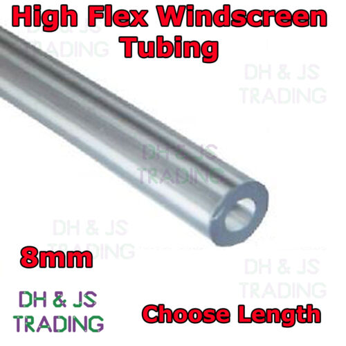 8mm Windscreen Washer Tubing Piping Tube Pipe Hose Mender Clear Plastic 5//16 ID