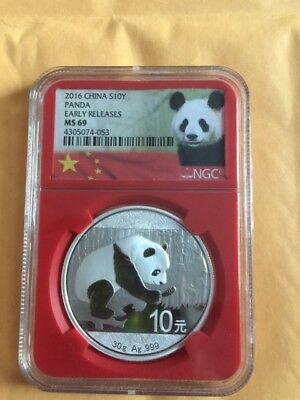 Prc (1949-now) 2016-silver Panda Early Releases Ms-69 Clear-Cut Texture