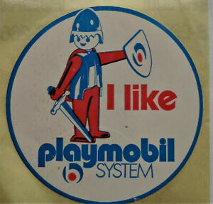 Fan-Aufkleber I Like Playmobil System Knight 80er Game Characters Toy
