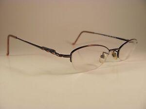 8ccb75194b4db Bongo B Cosmo Brown   Copper Oval Half-Rim Designer RX Eyeglass ...