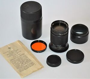 1981-RUSSIAN-USSR-TELEPHOTO-JUPITER-37A-f3-5-135mm-LENS-M42-CASE-GUIDE