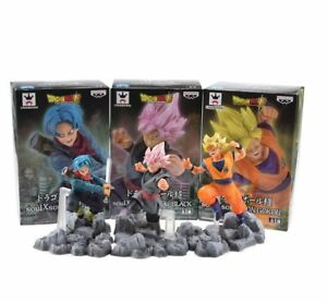DRAGON-BALL-Z-figuras-accion-Trunks-Black-Goku-Goku-Saiyan-figuras-accion