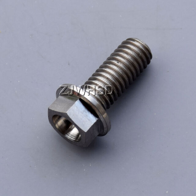Aerospace Grade Bicycle M8 x 15 Titanium Ti Screw Bolt Hexagon Hex Head Flange