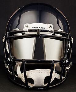 029d7714 Details about HOUSTON TEXANS NFL Football Helmet with CHROME MIRROR Visor /  Eye Shield