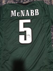 sports shoes d5c2c 1ecbb Details about Donovan McNabb autograph custom Eagles jersey. JSA COA. size  XL
