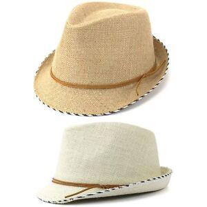 806f5a4217f2d4 Trilby Hat Cotton Hessian Fedora Cap Mens Unisex Brim Travel Hawkins ...