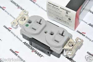 Details about 1pcs-COOPER WIRING AH8300GY 20A 125V Premium Hosptial on socket outlet wiring, switch outlet wiring, light outlet wiring, power outlet wiring, bulb outlet wiring, wall outlet wiring, electrical outlet wiring, plug outlet wiring, junction box outlet wiring,