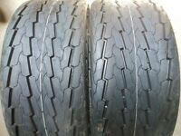 Two 20.5/8.00x10, 20.5/800-10 Tubeless 10 Ply Boat, Utility, Trailer Tires