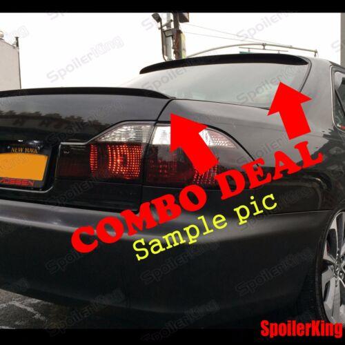 Fits: Audi A4 2006-08 B7 4dr sedan COMBO Rear Roof Wing /& Trunk Lip Spoiler