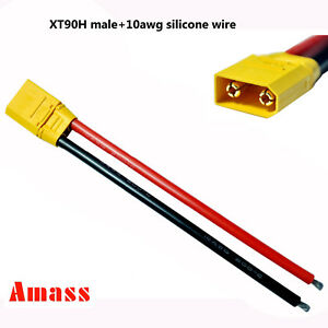 Incredible Amass Xt90H Male Connector Shealth 10Awg Wire For Rc Drone Lipo Wiring 101 Akebretraxxcnl