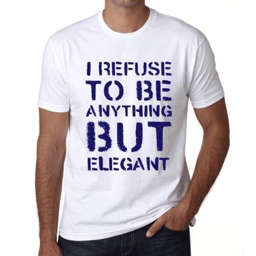 Men/'s Vintage Tee Shirt Graphic T shirt Anything but ELEGANT White