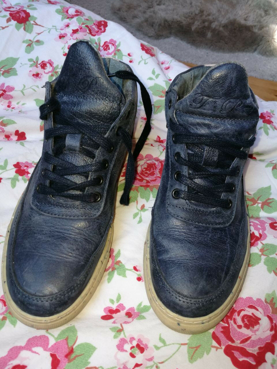 Filling Schuhe Pieces Sneaker dunkelblau rosa EUR 36 Schuhe Filling bequem luxus hoher NP 57c512