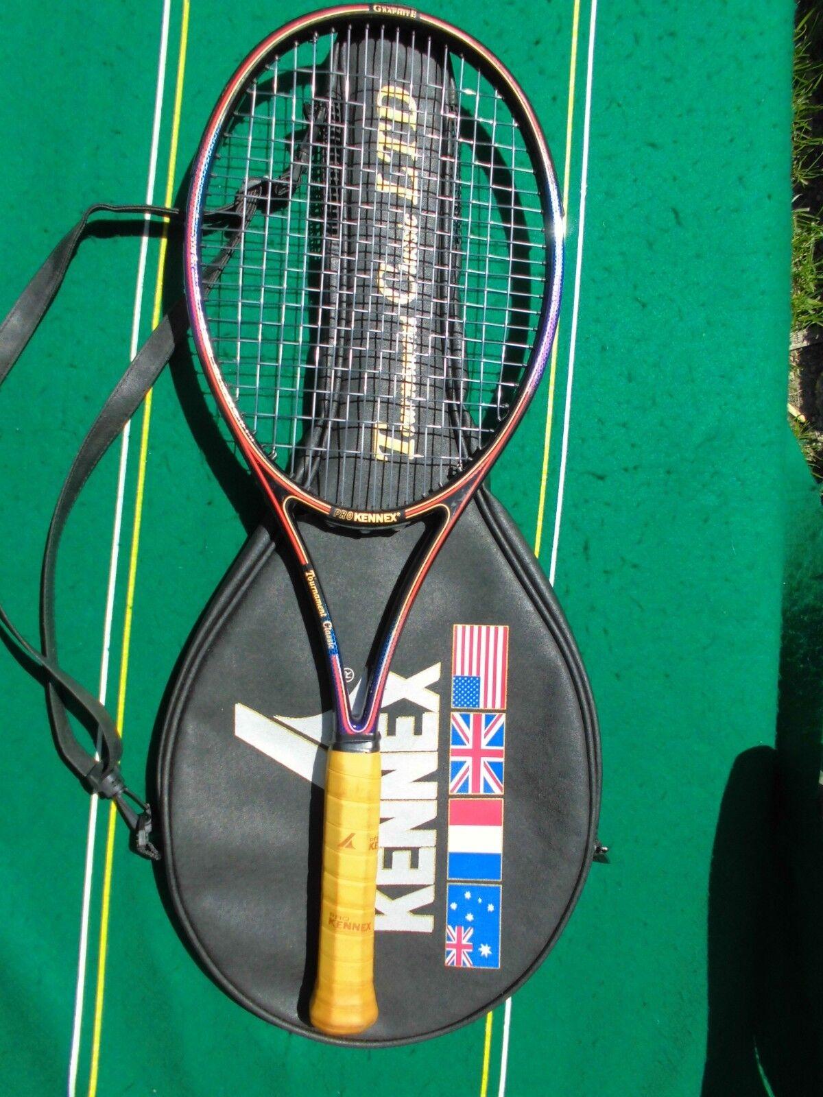 Prokennex torneo clásico Tamaño Mediano 16x19 Encordada Raqueta limitada 4 1 2 Cubierta Excl +