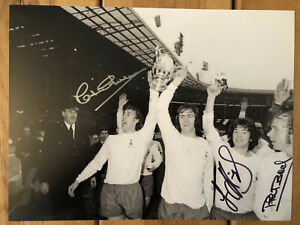 Tottenham-Hotspur-FA-Cup-Final-Signed-16x12-Photo-x-3-Rare-Spurs-Image