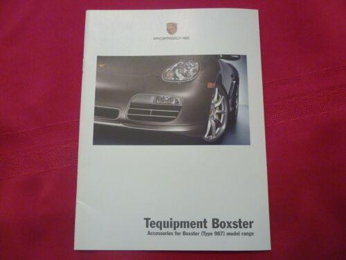 2007 Porsche Boxster Tequipment  Brochure New  987 Boxster S