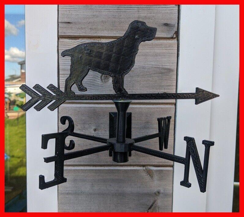 Spaniel Dog Acrylic Garden Weather Vane Wall or Pole Mounted