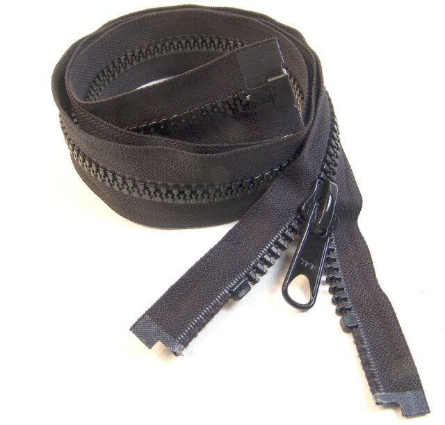 "Double Slider 48/"" Inches Black #10 Separating Zipper YKK Vislon Zipper"