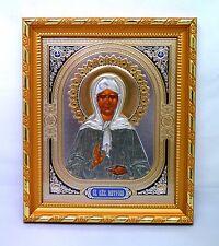 Ikone Matrona Moskauer икона святая Матрона Московская освящена 14,5x12,5x1,5 cm