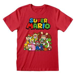 Official-Super-Mario-Characters-T-Shirt-Nintendo-Donkey-Kong-NES-Game-Yoshi-NEW